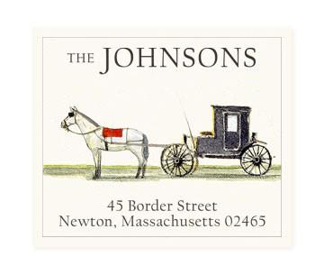 Custom Address Stickers - Horse and Carriage