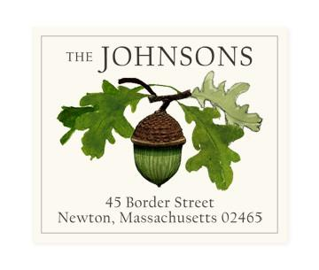 Custom Address Stickers - Acorn Stem (2 Styles Available)