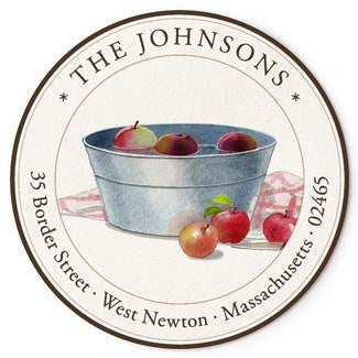 Custom Address Stickers - Apple Picking