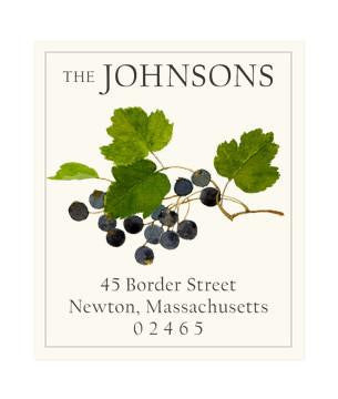 Custom Address Stickers - Black Currants
