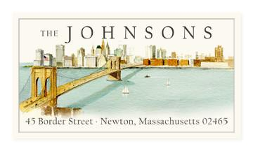 Custom Address Stickers - Brooklyn Bridge