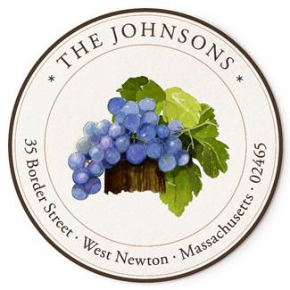 Custom Address Stickers - Concord Grapes