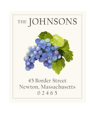 Custom Address Stickers - Grapes