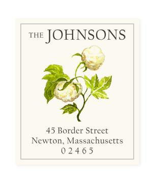 Custom Address Stickers - Cotton Blossom