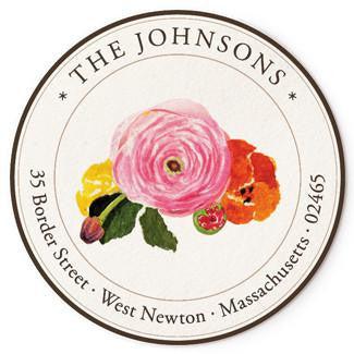 Custom Address Stickers - Flower Cut