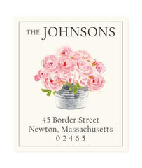 Custom Address Stickers - Happiness is Pink