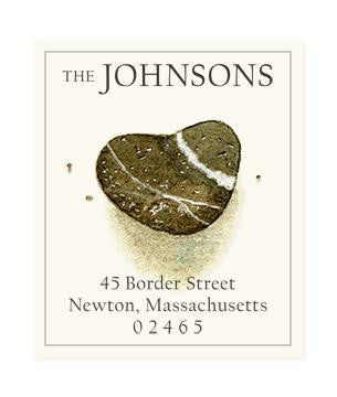 Custom Address Stickers - Heart Shaped Rock (2 Styles Available)