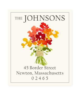 Custom Address Stickers - Kitchen Flowers (2 Styles Available)