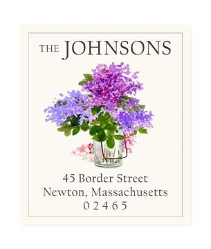 Custom Address Stickers - Lilac Jar