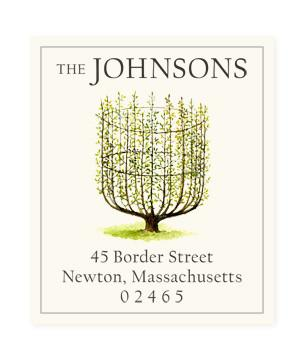 Custom Address Stickers - L' Espalier