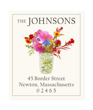 Custom Address Stickers - Meadow Bouquet