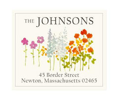 Custom Address Stickers - Meadow Flowers