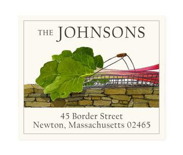 Custom Address Stickers - Basket of Rhubarb
