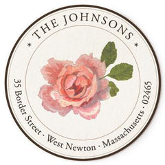 Custom Address Stickers - Pink Peony