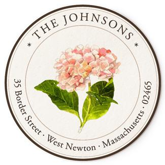 Custom Address Stickers - Pink Hydrangeas (2 Styles Available)
