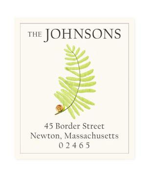 Custom Address Stickers - Fern and Snail