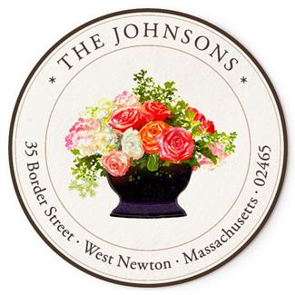Custom Address Stickers - Rose Arrangement