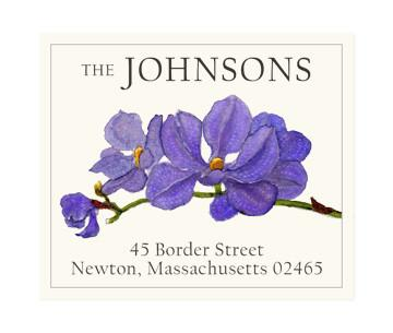 Custom Address Stickers - Orchid Stem