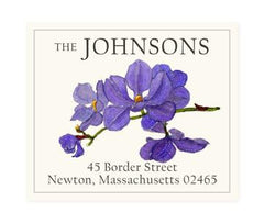 Custom Address Stickers - Sapphire Orchid (2 Styles Available)