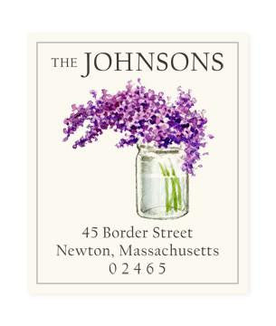 Custom Address Stickers - Scented Lilac