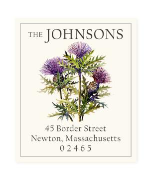 Custom Address Stickers - Scottish Thistle