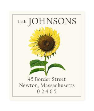 Custom Address Stickers - Sunflower