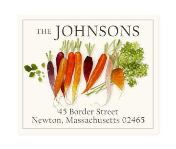 Custom Address Stickers - Sweet Carrots