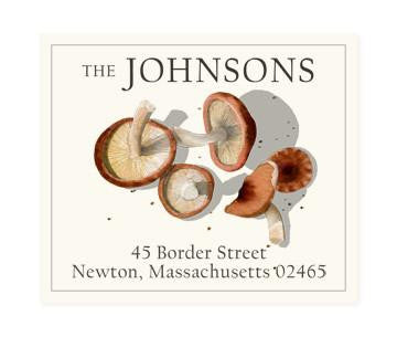 Custom Address Stickers - Shiitake Mushrooms