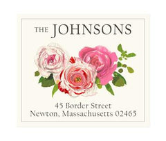 Custom Address Stickers - Three Roses