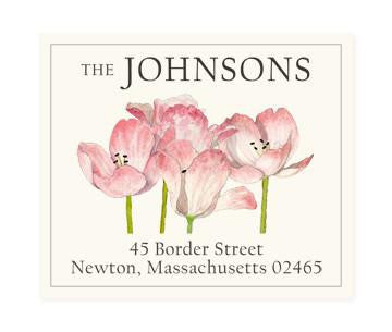 Custom Address Stickers - Tulip Bunch