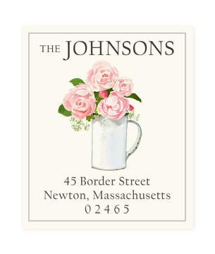 Custom Address Stickers - Blush Pink