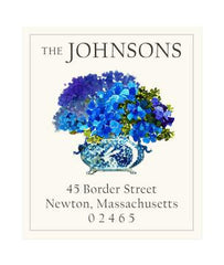 Custom Address Stickers - China Blue