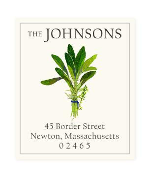 Custom Address Stickers - Bouquet Garni