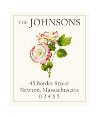 Custom Address Stickers - Speckled Rose