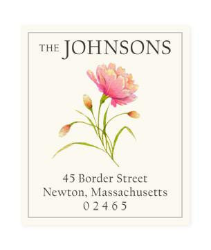 Custom Address Stickers - Sunset Blossom