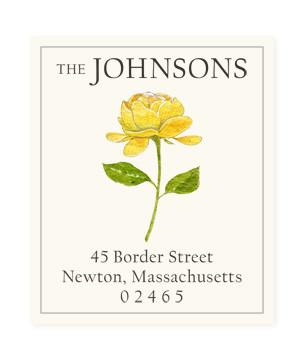 Custom Address Stickers - Yellow Blossom