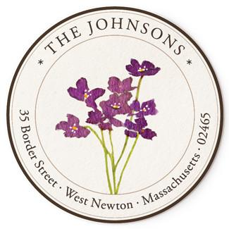 Custom Address Stickers - Violet Blossoms