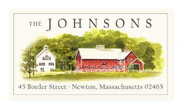 Custom Address Stickers - Country Barn (2 Styles Available)