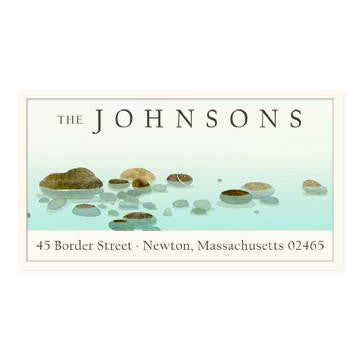 Custom Address Stickers - River Stones