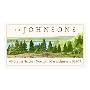 Custom Address Stickers - Grand Teton