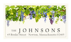 Custom Address Stickers - Grape Arbor