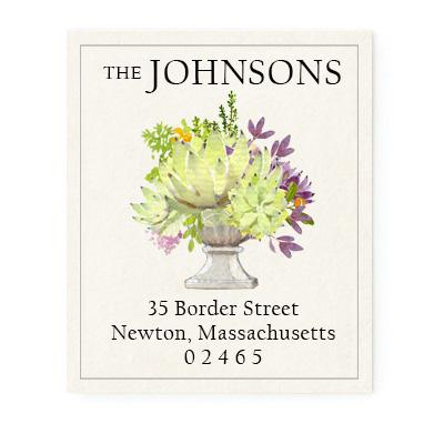 Custom Address Stickers - Succulent Bouquet