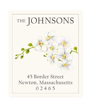 Custom Address Stickers - Orchid Cascade