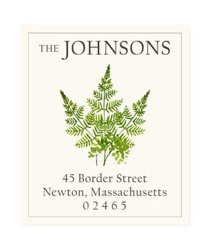 Custom Address Stickers - Fern Sprigs