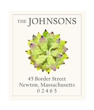 Custom Address Stickers - Succulent Rosette