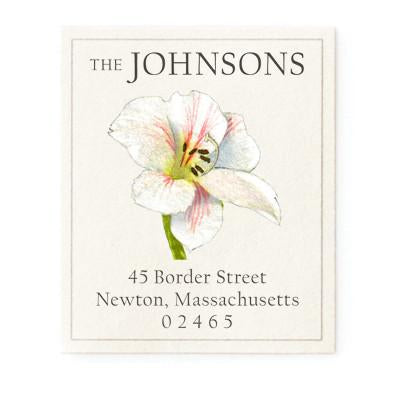 Custom Address Stickers - Amaryllis