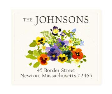 Custom Address Stickers - Spring Pansies