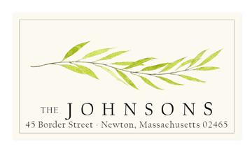 Custom Address Stickers - Willow Branch