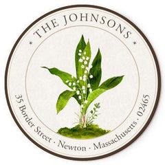 Custom Address Stickers - Lily of the Valley (2 Styles Available)