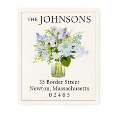 Custom Address Stickers - Lavender Blue